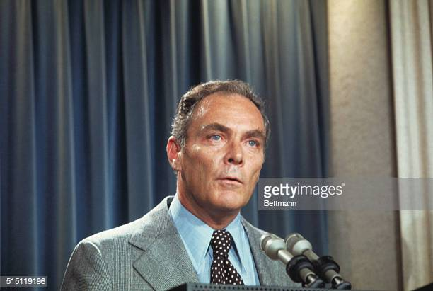 White House Chief of Staff Alexander Haig is shown in this head and shoulders shot