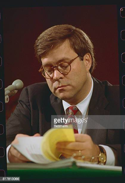 William Barr appears before the Senate Judiciary Committee on his nomination to become attorney general at Justice Department