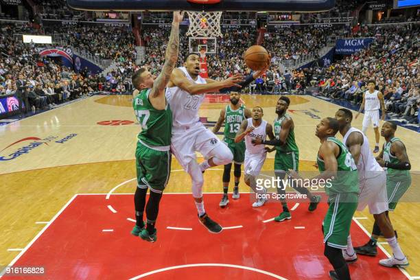 Washington Wizards forward Otto Porter Jr in action against Boston Celtics forward Daniel Theis on February 8 2018 at the Capital One Arena in...