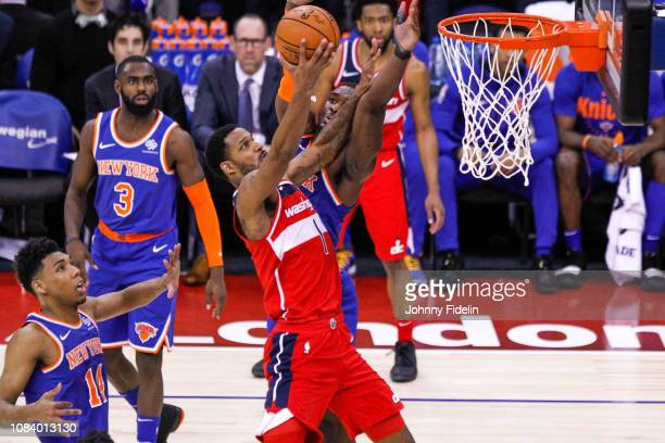 Washington Wizards Forward Trevor Ariza during the NBA game against Washington Wizards and New York Knicks at The O2 Arena on January 17 2019 in...