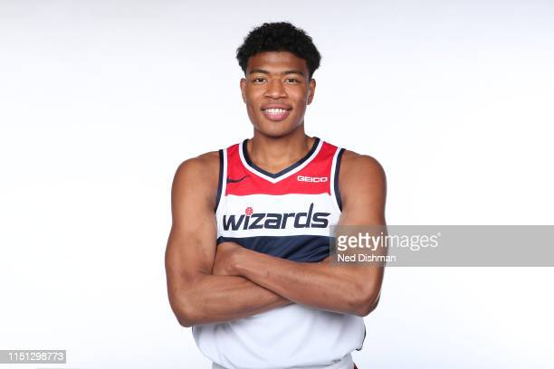 Washington Wizards NBA Draft Pick Rui Hachimura poses for a portrait at Capital One Arena on June 21 2019 in Washington DC NOTE TO USER User...