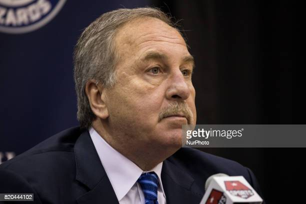 Washington Wizards President Ernie Grunfeld participated in a press conference to celebrate Otto Porter's new contract extension at the Verizon...