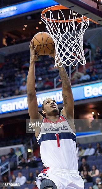 Washington Wizards small forward Trevor Ariza during their game against the New Orleans Hornets at the Verizon Center in Washington DC Friday March...