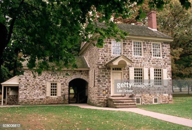 washington's headquarters at valley forge - valley forge washington stock pictures, royalty-free photos & images
