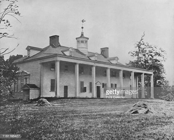 Washington's Home, Mount Vernon, Virginia', circa 1897. Palladian style Palladian plantation mansion of George Washington at Mount Vernon. The...