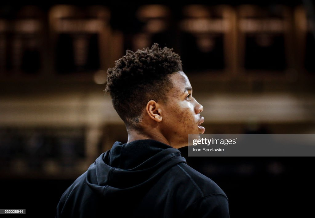 Washington's Markelle Fultz during warmups prior to their regular season Pac-12 college basketball game against Colorado on February 09, 2017, at the Coors Events Center in Boulder, Co. Colorado won the game 81-66. Fultz, who did not play in the game due to illness, is projected by many to be the top overall pick in the 2017 NBA Draft.