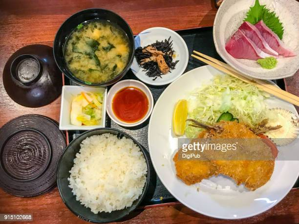 Washoku lunch meal, daily personal perspective view