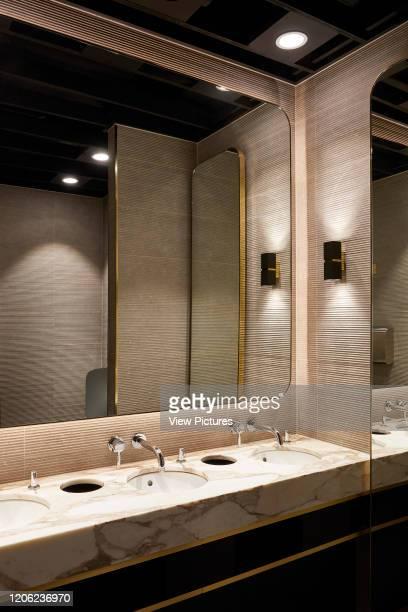 Washroom. Royal China Club, London, United Kingdom. Architect: Stiff + Trevillion Architects, 2018.
