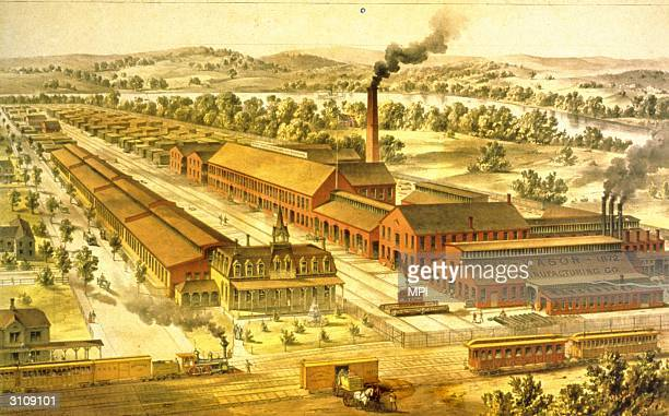 Wason manufacturing company builders of railway cars in Springfield Massachusetts