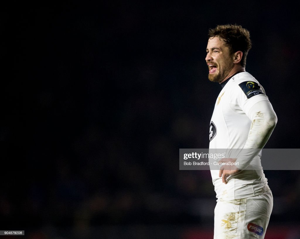 Wasps' Danny Cipriani during the European Rugby Champions Cup match between Harlequins and Wasps at Twickenham Stoop on January 13, 2018 in London, England.