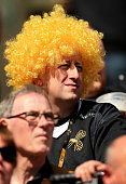 coventry england wasps fan looks during