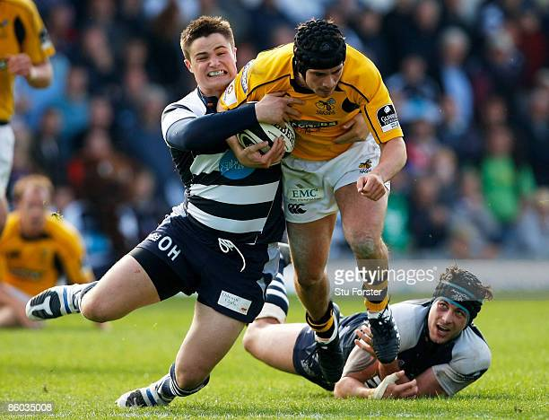 Wasps fly half Danny Cipriani runs through the Bristol defence during the Guinness Premiership match between Bristol and Wasps at The Memorial...