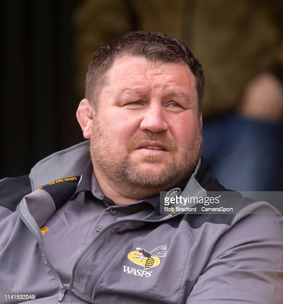 Wasps' Head Coach Dai Young during the Gallagher Premiership Rugby match between Bath Rugby and Wasps at Recreation Ground on May 5 2019 in Bath...