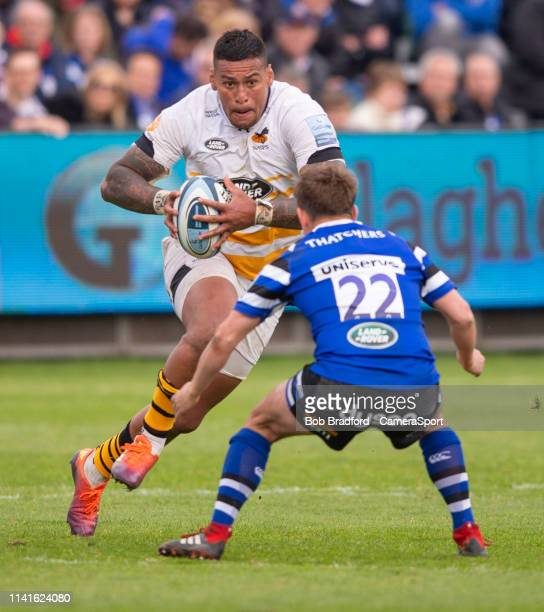 Wasps' Nathan Hughes in action during the Gallagher Premiership Rugby match between Bath Rugby and Wasps at Recreation Ground on May 5 2019 in Bath...