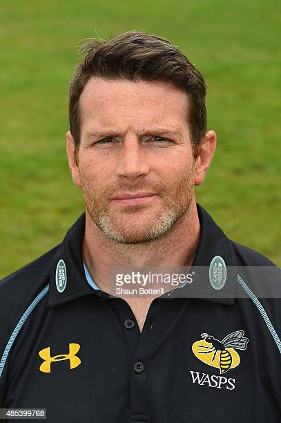 Wasps Skills Coach Andy Titterell poses for a portrait at the photocall held at Twyford Avenue Sports Ground on August 27, 2015 in Acton, England.