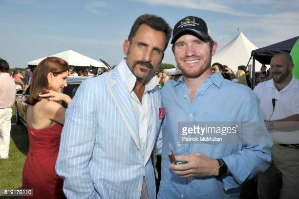 Wass Stevens and Brian Vickus attend MercedesBenz Polo Challenge Opening Weekend at Blue Star Jets Field at Two Trees Farm on July 24 2010 in...