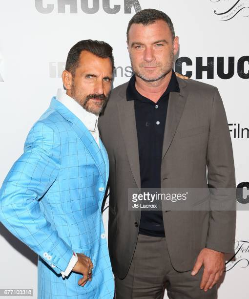 Wass Stevens and Liev Schreiber attend the premiere of IFC Films' 'Chuck' on May 02 2017 in Hollywood California