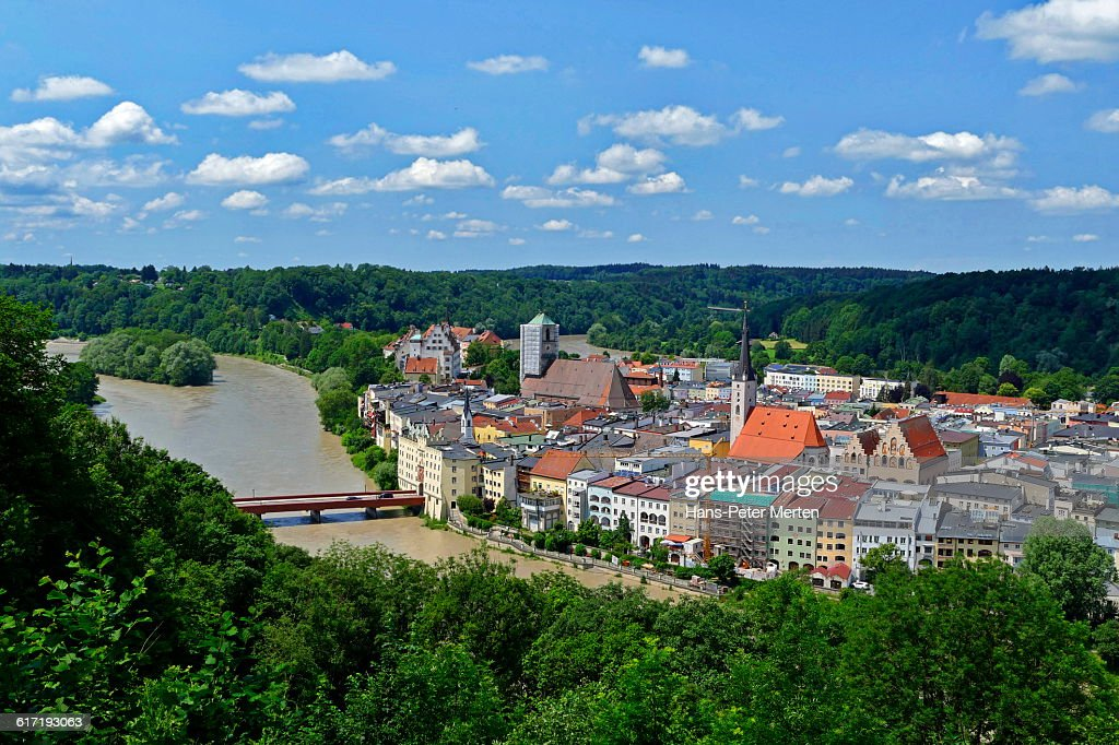 Wasserburg am Inn, Upper Bavaria : Stock Photo