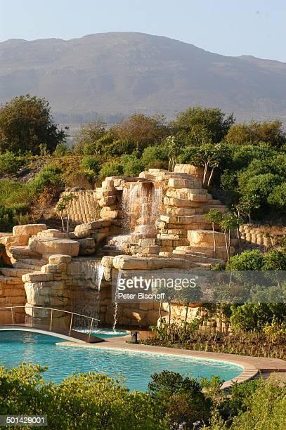 Wasserfall und Pool The Western Cape Hotel Spa Kleinmond bei Kapstadt Südafrika Afrika Swimmingpool Reise BB DIG PNr 240/2006