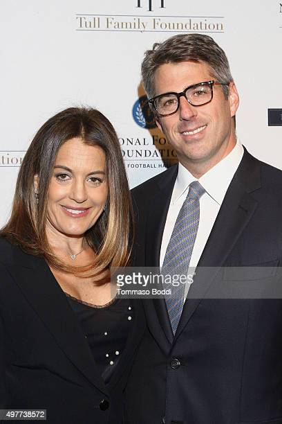 CEO Wasserman Media Group Casey Wasserman and Laura Ziffren attend the National Football Foundation Leadership Hall Of Fame Luncheon honoring Casey...