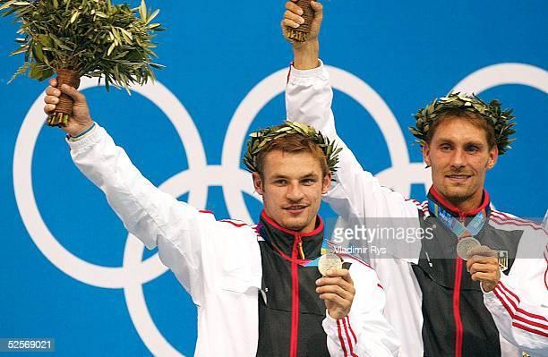 Wasserspringen Olympische Spiele Athen 2004 Athen Synchronspringen 3m / Maenner Tobias SCHELLENBERG Andreas WELS / GER / Silber 160804