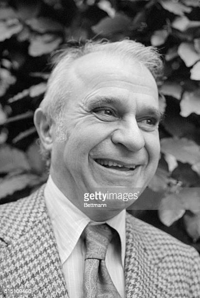 Wassily Leontief winner of the 1973 Nobel Prize for economic science, is shown in front of his home after receiving the good news. Leontief is a...