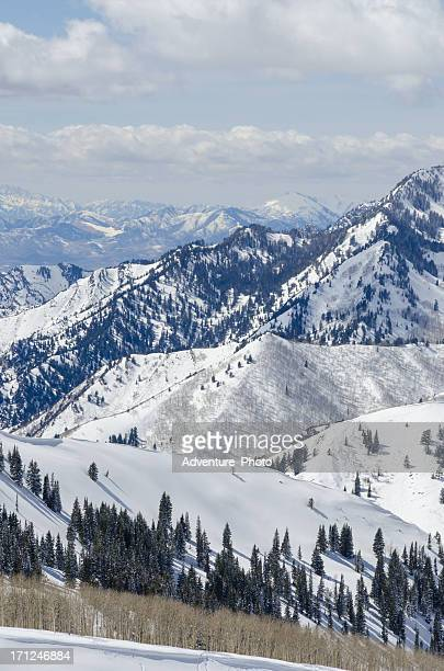 wastach mountain view - park city utah stock pictures, royalty-free photos & images