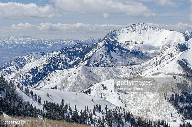 wastach mountain view - utah stock pictures, royalty-free photos & images