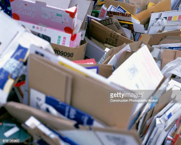 Waste cardboard boxes and packaging.
