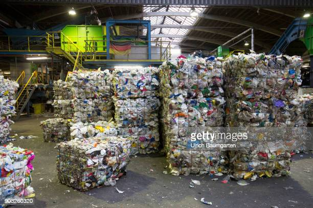 Waste disposal and processing of rubbish at the ENG disposal Niederrhein mbH in Krefeld The picture shows mixed plastics