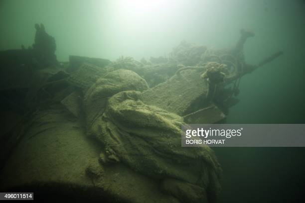 Waste is pictured on the eve of a cleaning campaign of Marseille's 'Vieux port' harbour sub sea floor on November 6 2015 in the Mediterranean sea AFP...