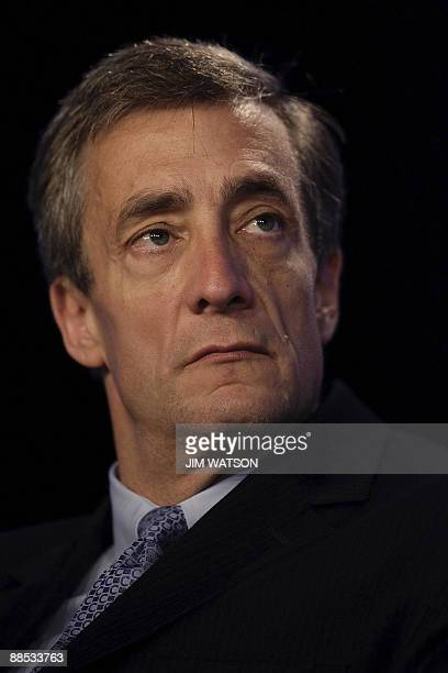 Waste Management Chief Executive Officer David Steiner speaks during the final day of the National Summit in Detroit, Michigan, June 17, 2009. AFP...