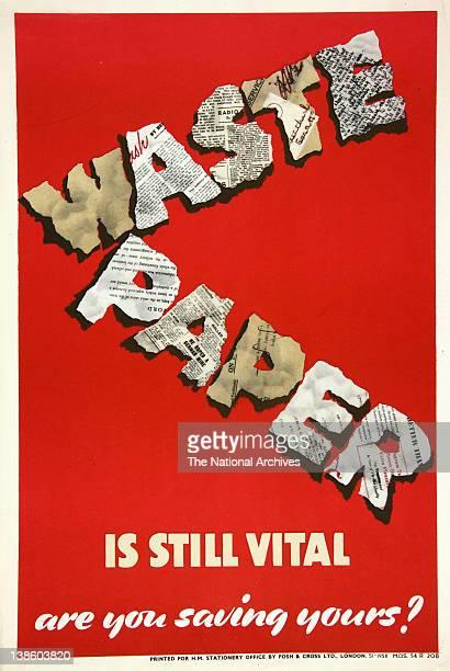 Waste Paper Is Still Vital WWII