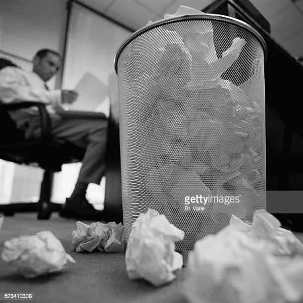 Wastebasket Full of Paper