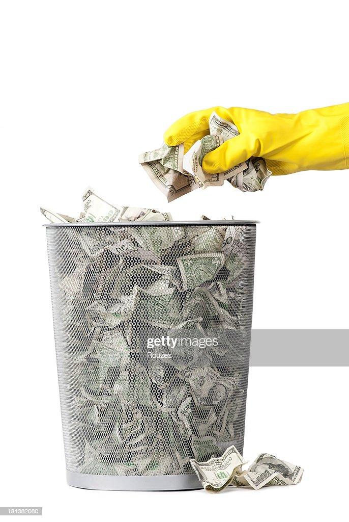 wasting money : Stock Photo