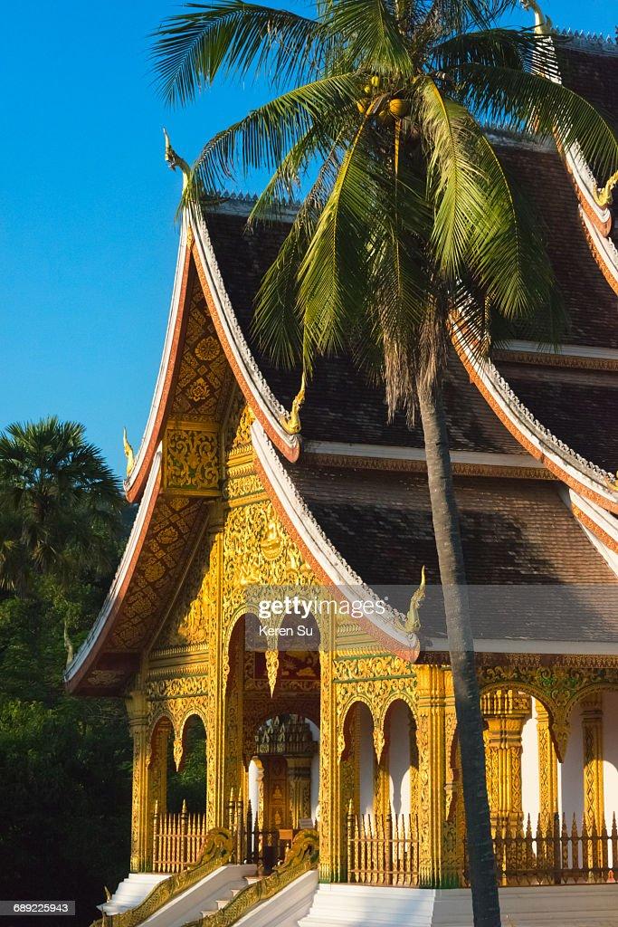Wat Aham on Mount Phousi : Stock Photo