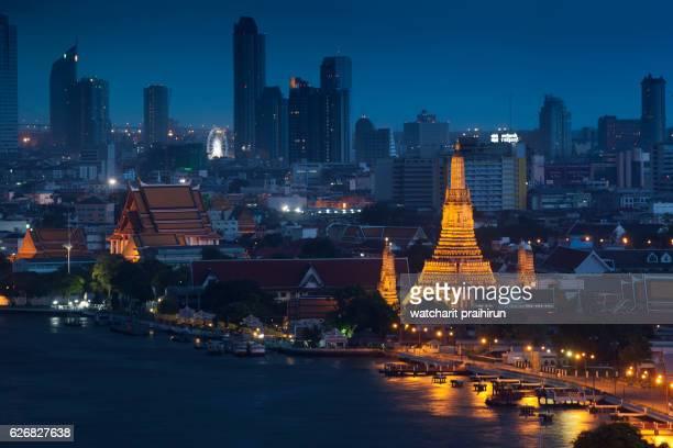 Wat Arun at night Bangkok ,Thailand