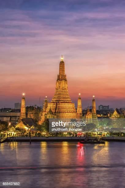 Wat Arun at sunset,Bangkok,Thailand.