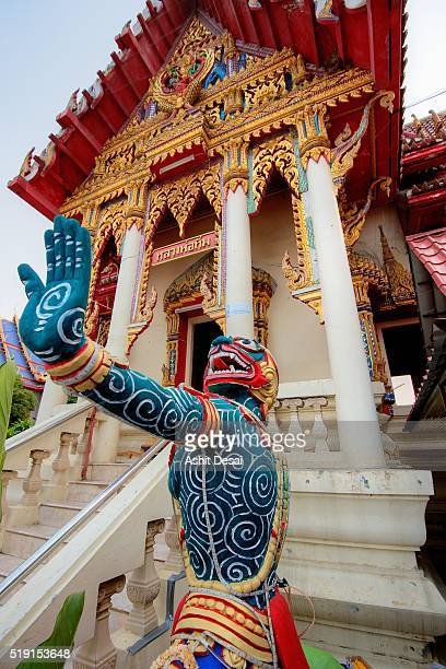 wat bang phra, famously known for the traditional thai tattoos known as sak yant. - wat stock pictures, royalty-free photos & images