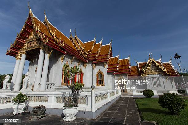 Wat Benchamabophit Dusitvanaram is also known as the marble temple and one of Bangkok's most beautiful temples typifying the ornate Thai style of...