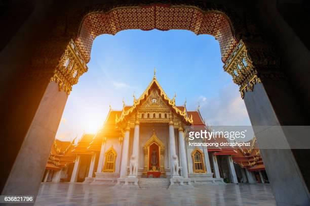 Wat Benchamabophit in Bangkok ,Thailand.