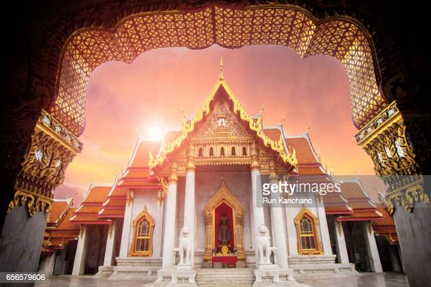 wat benchamabophit - grand palace bangkok stock pictures, royalty-free photos & images