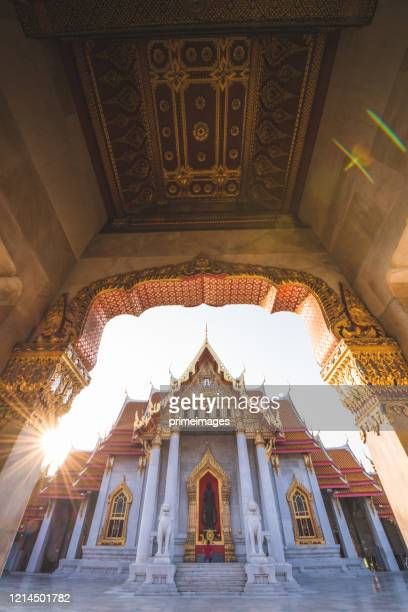 wat benchamabopit dusitvanaram a famous temple in bangkok - place of worship stock pictures, royalty-free photos & images