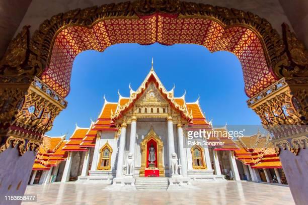 wat benchamabopitr dusitvanaram - grand palace - bangkok stock pictures, royalty-free photos & images