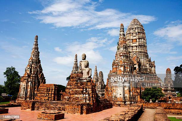 wat chaiwattanaram. - ayuthaya province stock pictures, royalty-free photos & images