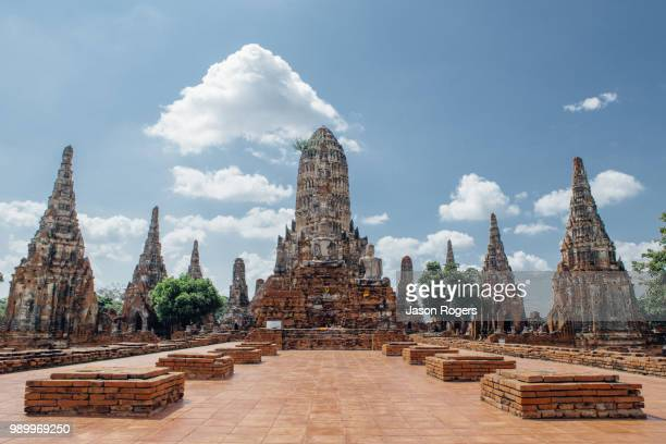wat chaiwatthanaram - faith rogers stock pictures, royalty-free photos & images