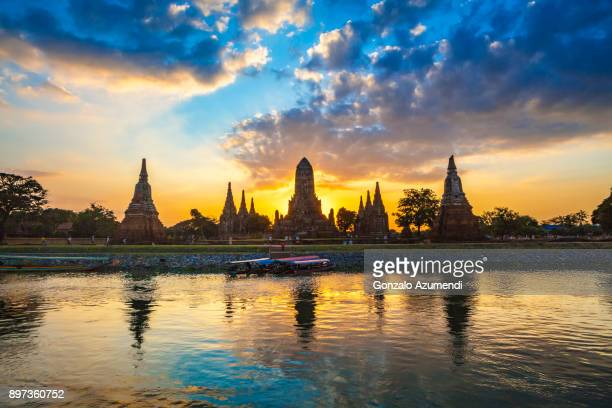 Wat Chaiwatthanaram temple in Thailand