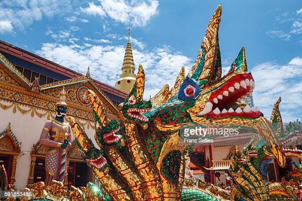 Wat Chayamangkalaram Thai Buddhist temple in Penang, Malaysia