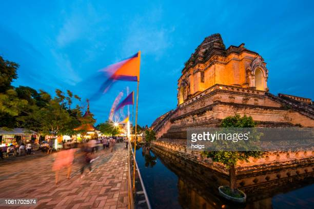 Wat Chedi Luang a Historic Temple in Chiang Mai, Thailand