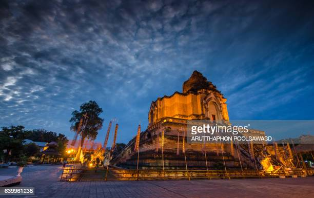 Wat Chedi Luang, Temple in Chiang Mai, Thailand